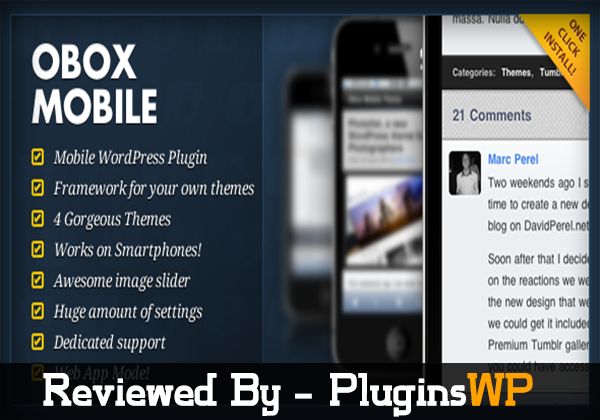 Obox Mobile WordPress Plugin – Review and Download